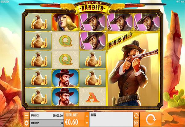 Sticky Bandits 777 Slots Bay game