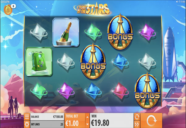 Ticket to The Stars 777 Slots Bay game
