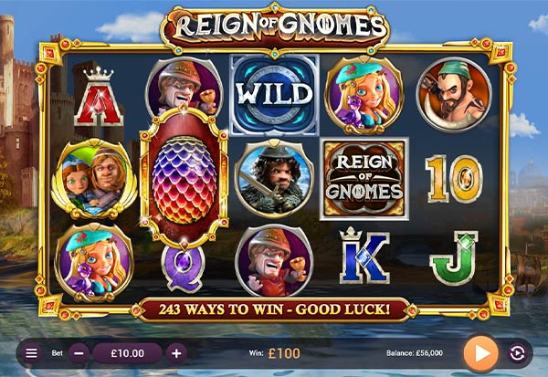 Reign of Gnomes 777 Slots Bay game