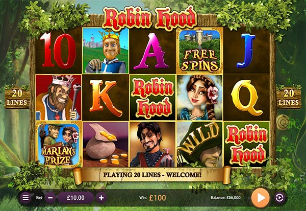 Robin Hood 777 Slots Bay game