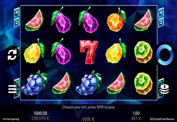 243 Crystal Fruit Reversed 777 Slots Bay game