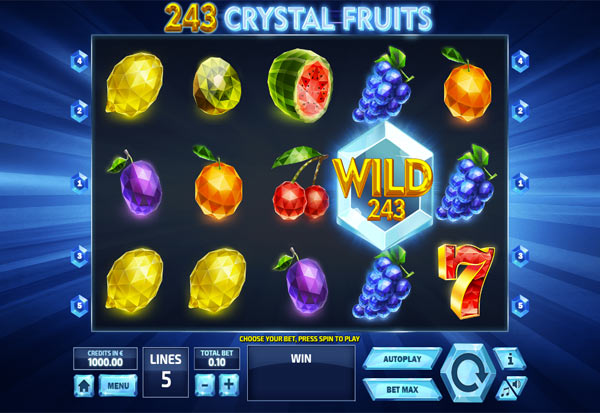 243 Crystal Fruits 777 Slots Bay game
