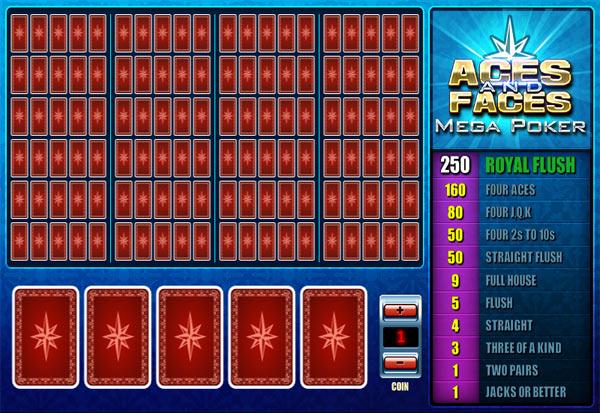 Aces And Faces Mega Poker 777 Slots Bay game