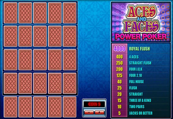 Aces And Faces Poker 4 Hand 777 Slots Bay game