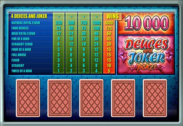 Deuces And Joker Poker 777 Slots Bay game