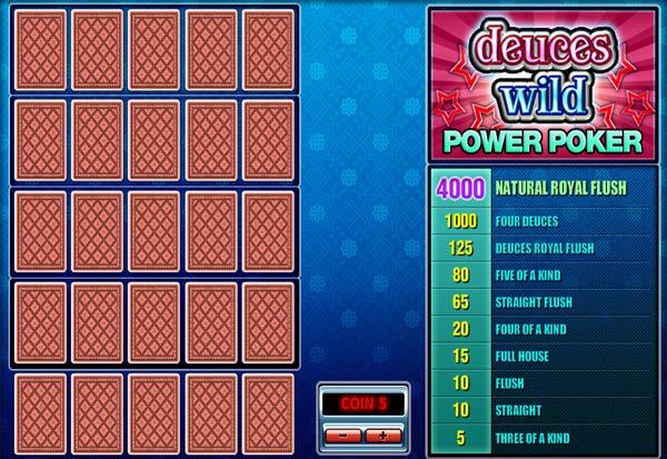 Deuces Wild Poker 4 Hand 777 Slots Bay game