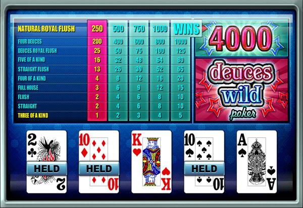 Deuces Wild Poker 777 Slots Bay game