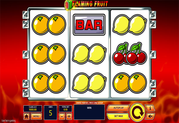 Flaming Fruit 777 Slots Bay game