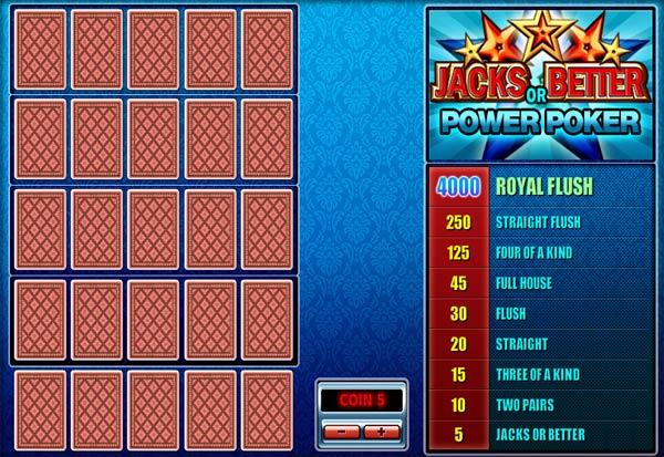 Jacks Or Better Poker 4 777 Slots Bay game