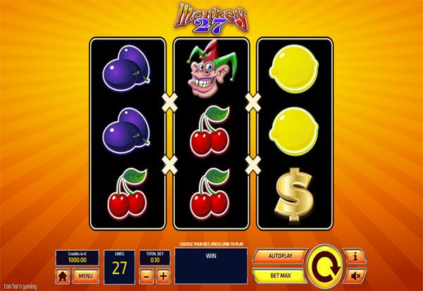 Monkey 27 777 Slots Bay game
