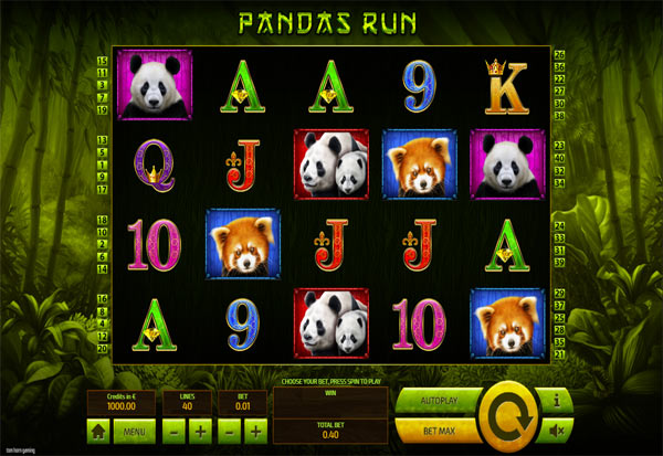 Pandas Run 777 Slots Bay game