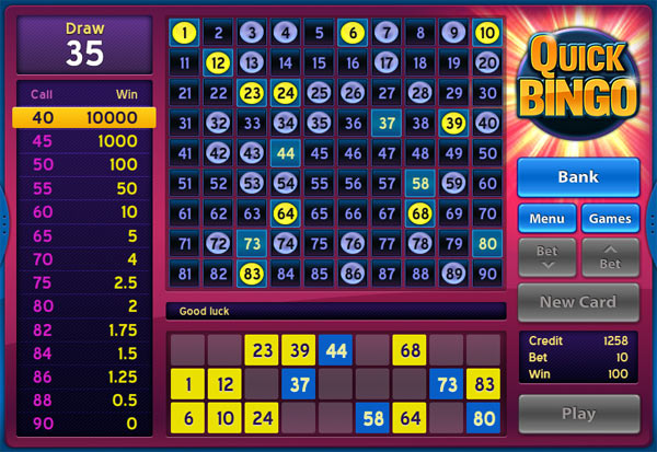 Quick Bingo 777 Slots Bay game
