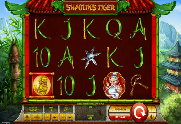Shaolin's Tiger 777 Slots Bay game