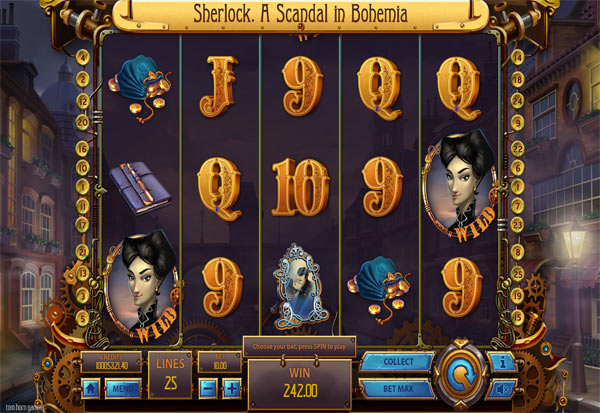 Sherlock. A Scandal In Bohemia 777 Slots Bay game