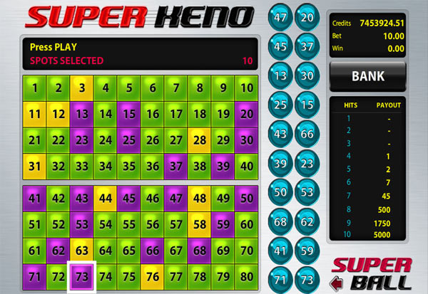 Super Keno 777 Slots Bay game