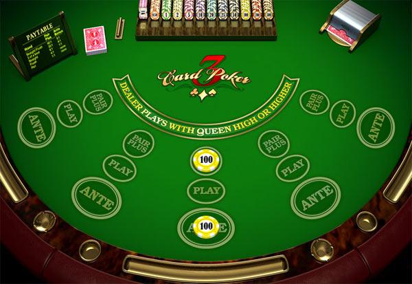 Three Card Poker 777 Slots Bay game