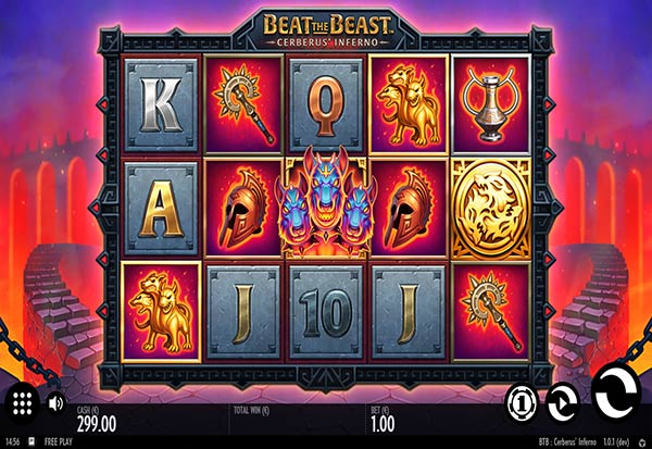 Beat the Beast Cerberus Inferno 777 Slots Bay game