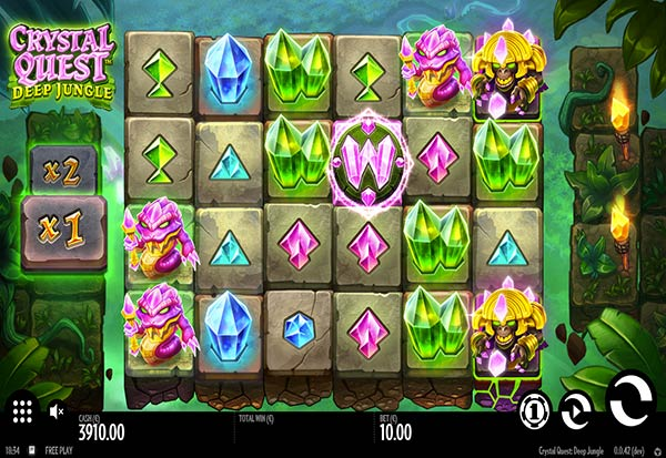 Crystal Quest Deep Jungle 777 Slots Bay game