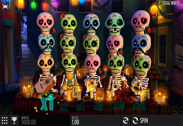 Esqueleto Explosivo 777 Slots Bay game
