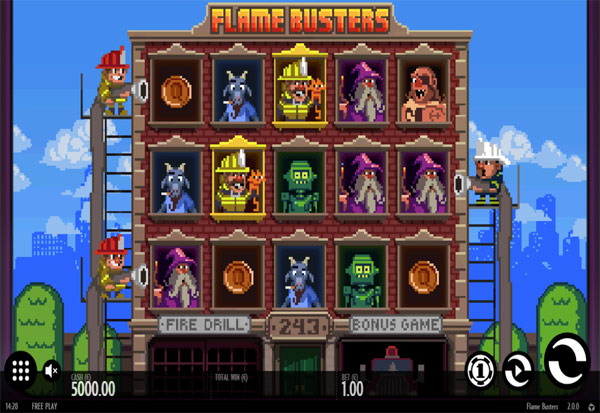 Flame Busters 777 Slots Bay game