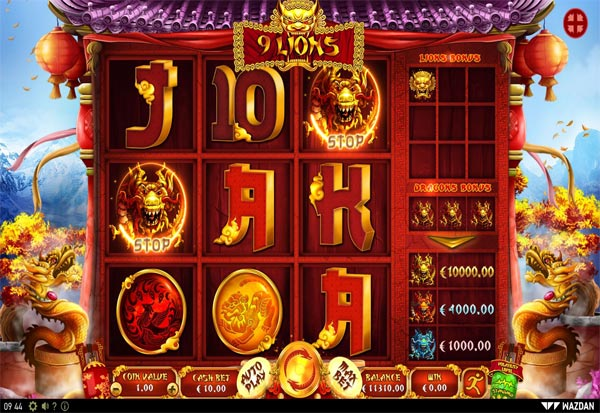 9 Lions 777 Slots Bay game