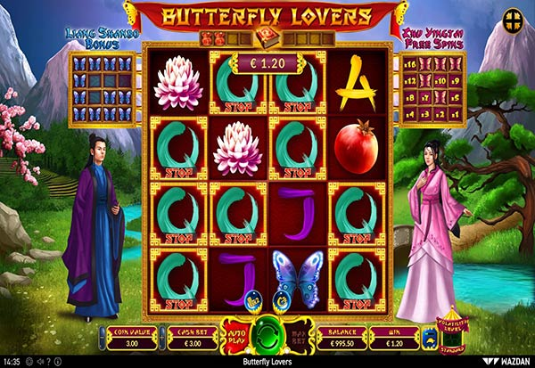 Butterfly Lovers 777 Slots Bay game