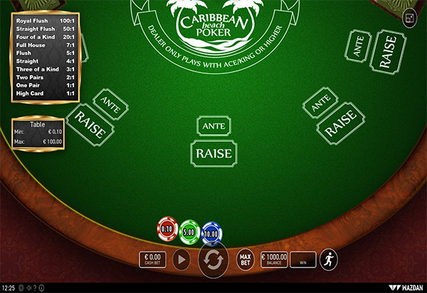 Caribbean Beach Poker 777 Slots Bay game