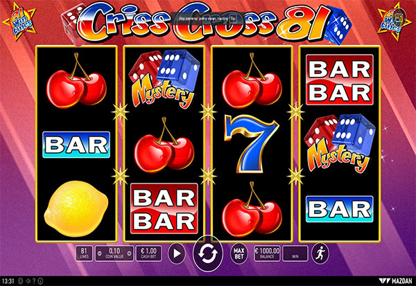 Criss Cross 81 777 Slots Bay game