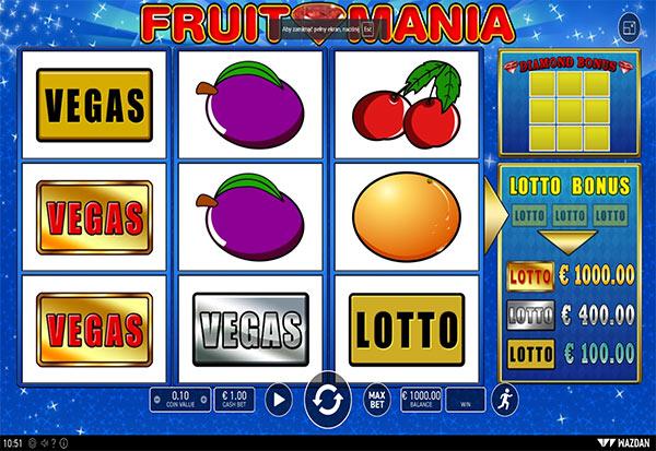 Fruit Mania 777 Slots Bay game