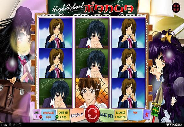 Highschool Manga 777 Slots Bay game