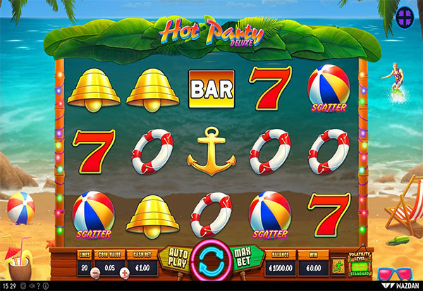 Hot Party Deluxe 777 Slots Bay game