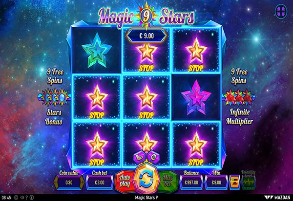 Magic Stars 9 777 Slots Bay game