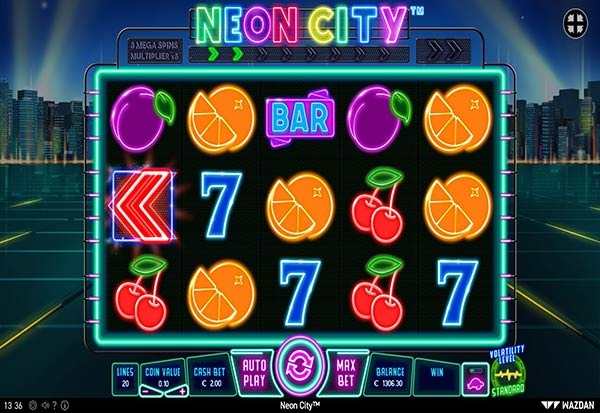 Neon City 777 Slots Bay game