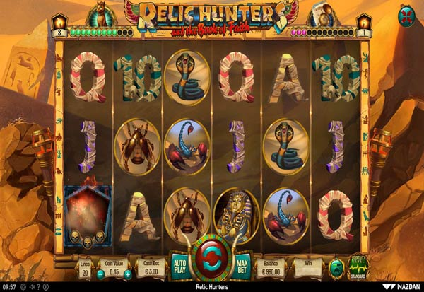 Relic Hunters and the Book of Faith 777 Slots Bay game