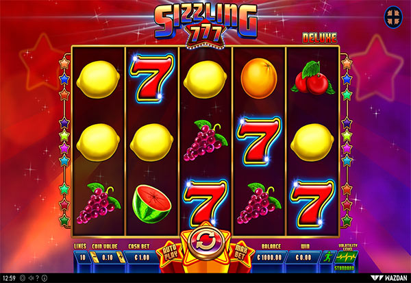 Sizzling 777 Deluxe 777 Slots Bay game
