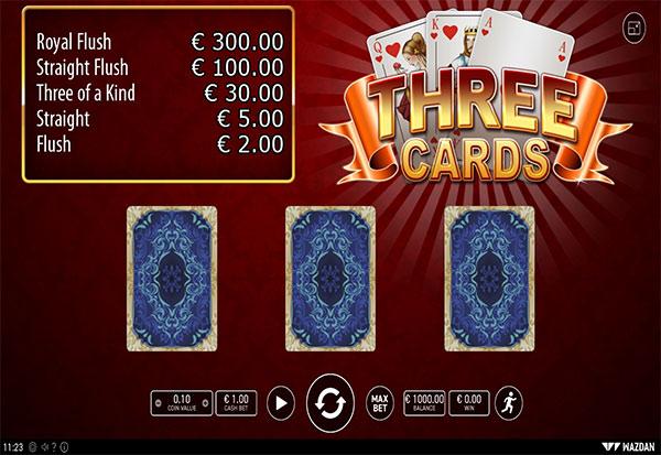 Three Cards 777 Slots Bay game