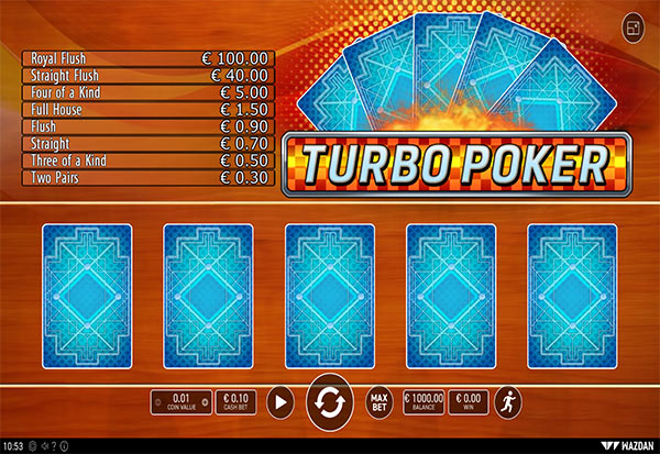 Turbo Poker 777 Slots Bay game